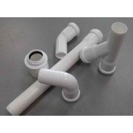 PVC PP Fehér Szűkítő Rejtett 50/40