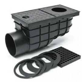STYRON Kültéri víznyelő eresz bekőtéssel 110mm oldal kifolyású