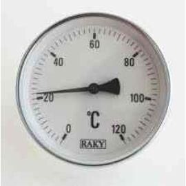 """HŐMÉRŐ  1/2"""" ¤100/200mm  0 +400°C ( kemencékhez stb. )"""