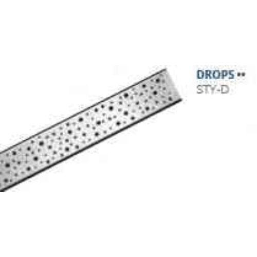 Styron zuhanyfolyóka Drops 700mm
