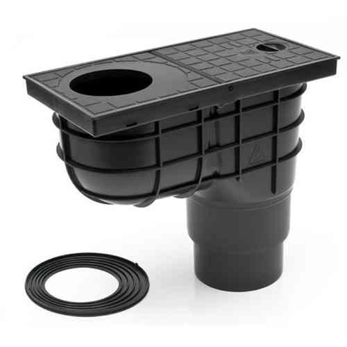 STYRON Kültéri víznyelő eresz bekőtéssel 110mm