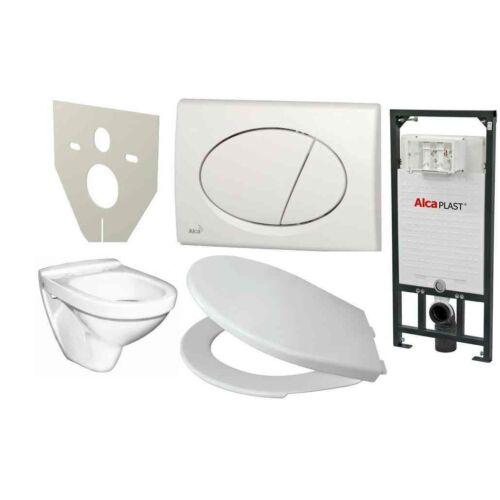Alcaplast falon belüli wc tartály+ülőke+fali wc