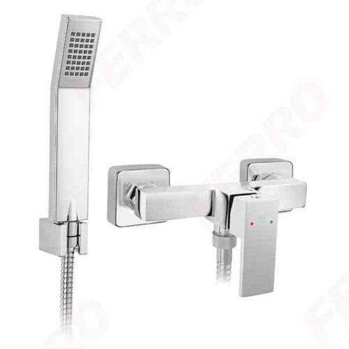 Ferro Zicco szögletes zuhanycsaptelep