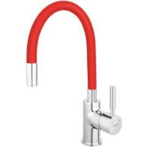 Ferro zumba konyhai csaptelep flexibilis piros kifolyócsővel