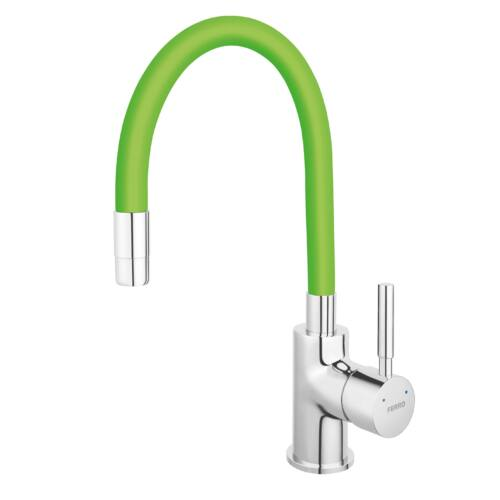 Ferro zumba konyhai csaptelep flexibilis zöld kifolyócsővel