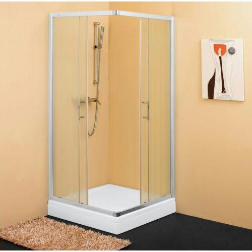 Kolpa San SQ line TKK 80,szögletes,tolóajtós zuhanykabin FEHÉR (510970)