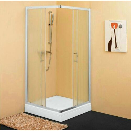 Kolpa San SQ line TKK 90,szögletes,tolóajtós zuhanykabin SILVER (511040)