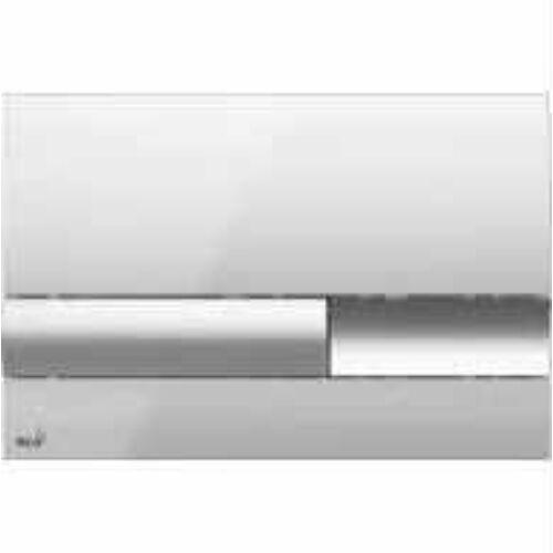 Alcaplast falon belüli wc-hez nyomólap fényes króm/fényes króm M1741