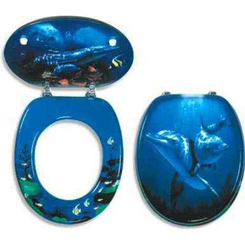 WC ülőke mdf mintás- delfines